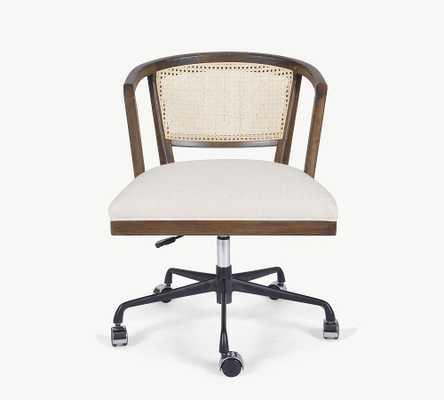 Lisbon Cane Desk Chair, Vintage Sienna - Pottery Barn