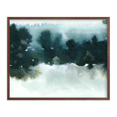 "Night Falling 2, 20""x16"", Walnut Wood Frame - West Elm"