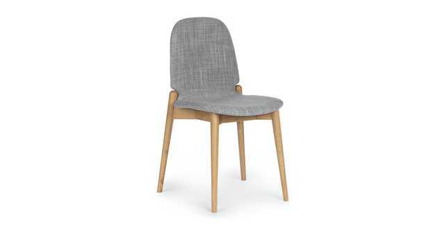 Albo Pebble Gray Oak Dining Chair - Article