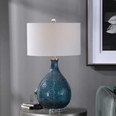 Eline Blue Glass Table Lamp - Hudsonhill Foundry