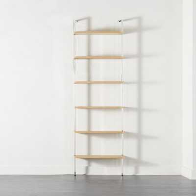 "Helix 96"" Bleached Oak Bookcase - CB2"