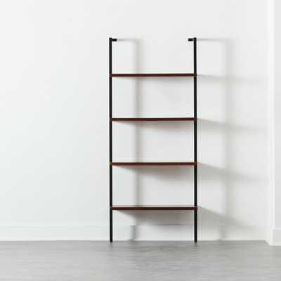 "HELIX 70"" WALNUT BOOKCASE - CB2"