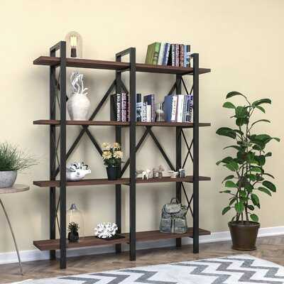 Labriola 79'' H x 59'' W Metal Etagere Bookcase - Wayfair