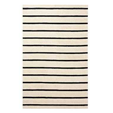 Textured Stripe Rug, 8'x10', Natural - Pottery Barn Teen