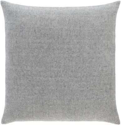 "Wells Pillow Cover, 18""x 18"", Charcoal - Cove Goods"