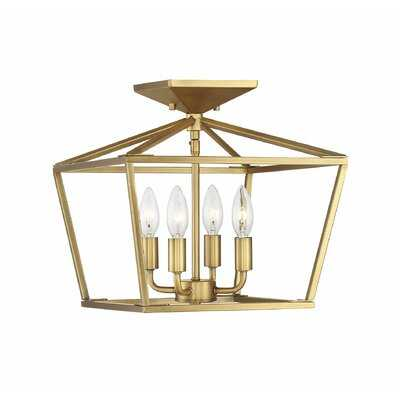 Iniguez 4-Light Semi Flush Mount - Birch Lane