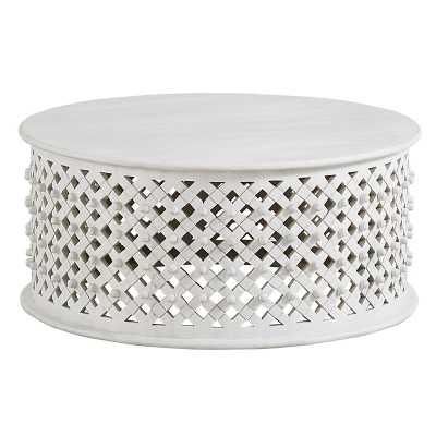 Bornova Coffee Table - Rustic Whitewash   - Ballard Designs - Ballard Designs
