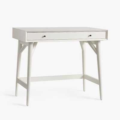 west elm x pbt Mid-Century Small-Space Mini Desk, White, UPS - Pottery Barn Teen