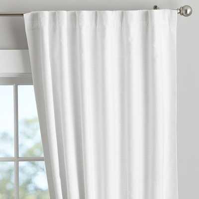 "Cotton Linen Blackout Curtain - Set of 2, 96"", White - Pottery Barn Teen"