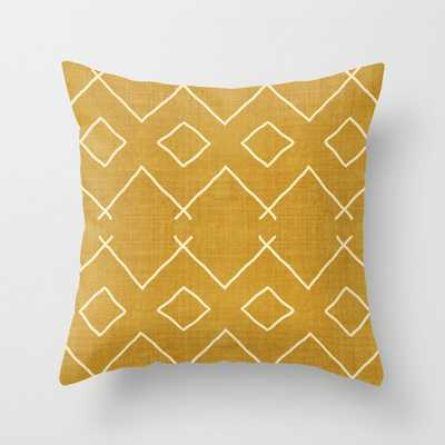 "Bath In Gold Couch Throw Pillow by Becky Bailey - Cover (24"" x 24"") with pillow insert - Indoor Pillow - Society6"