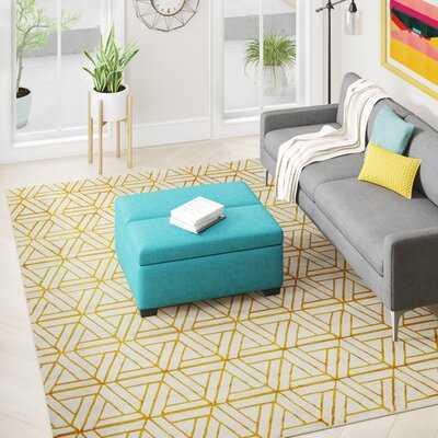 Ginsberg Geometric Mustard/Dark Brown/Gray Area Rug - Wayfair
