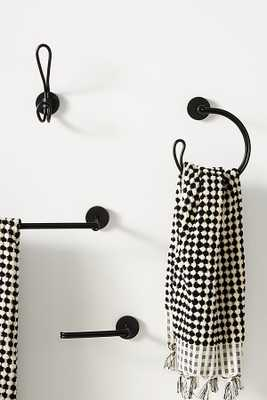 Chambliss Towel Ring By Anthropologie in Black - Anthropologie