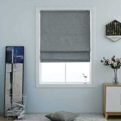 Washable Blackout Roman Shade - Wayfair