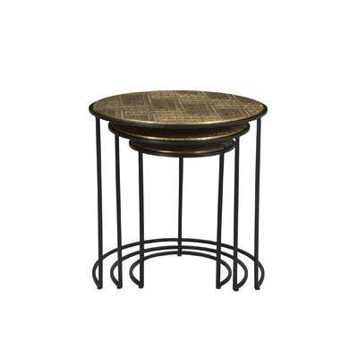 Mercer41 Nedir Iron Nesting Table Black - Wayfair