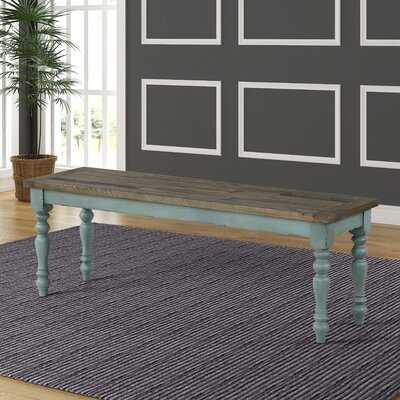 Cierra Two-Tone Wood Bench - Wayfair