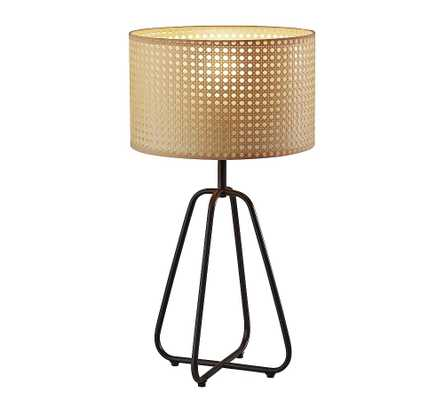 Abacus Cane Table Lamp, Antique Bronze - Pottery Barn