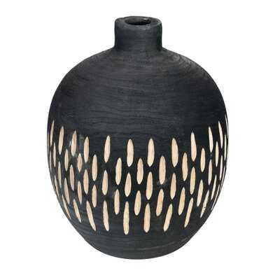 """Arlia Black 15.75"""" Wood Table Vase - AllModern"""