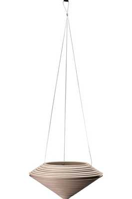 Daniel Resin Hanging Planter Color: Weathered Stone - Perigold