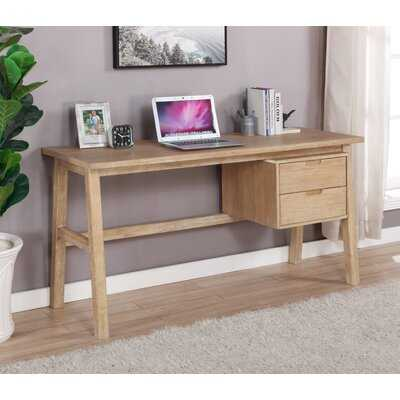Martine Side Storage Desk Natural - Wayfair