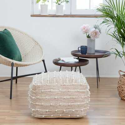 "Verendrye 22"" Square Striped Pouf Ottoman - Wayfair"