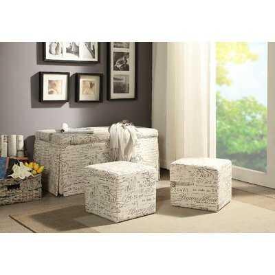 Guerrero Upholstered Flip Top Storage 3 Piece Bench Set - Wayfair