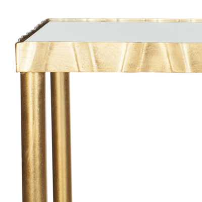 Princess Mirror Top Console Table - Gold/Mirror - Arlo Home - Arlo Home
