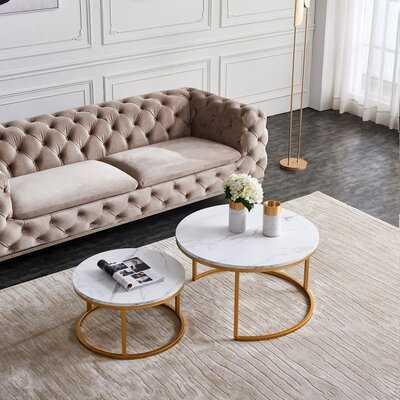 "31.5"" Modern Nesting Coffee Table, Golden - Wayfair"