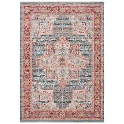 Mea-Mebara Oriental Blue/Red Area Rug - Wayfair
