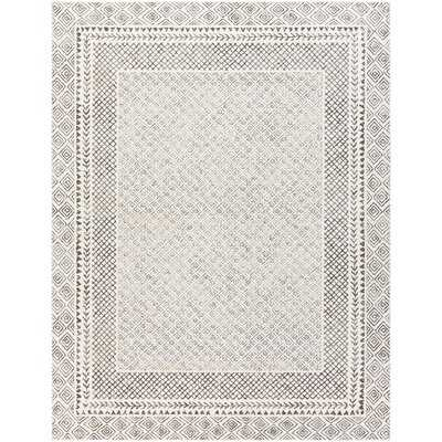 "Calvo Gray/Beige/Charcoal Area Rug 7'10"" x 10'3"" - Wayfair"