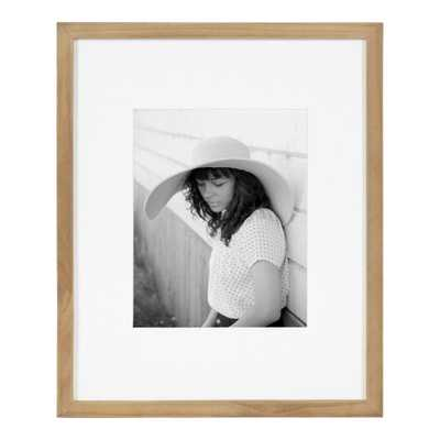 DesignOvation Gallery 13 in. x 16 in. matted to 8 in. x 10 in. Natural Picture Frame - Home Depot