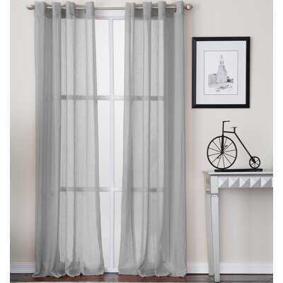 Creedmoor Solid Semi-Sheer Grommet Single Curtain Panel - AllModern