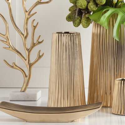 Weslaco Tapered Modern Ceramic Table Vase - Wayfair