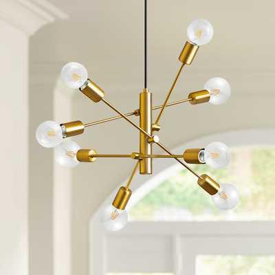 "Eglo Gradoli 21 3/4"" Wide Gold Sputnik 8-Light Pendant Light - Style # 92A71 - Lamps Plus"