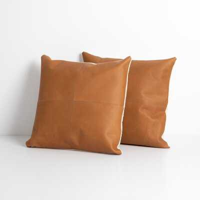 Highpoint Square Leather Pillow Cover & Insert - AllModern