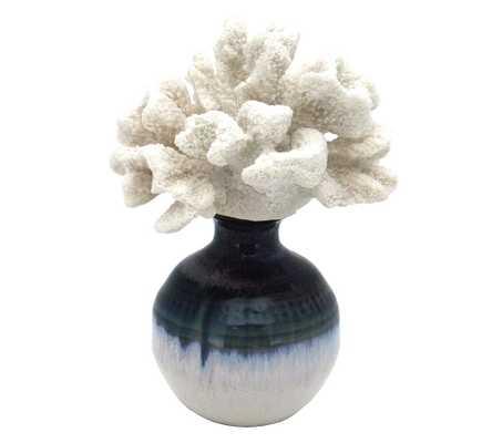 Bear Paw Coral On Reactive Glazed Vase - Pottery Barn