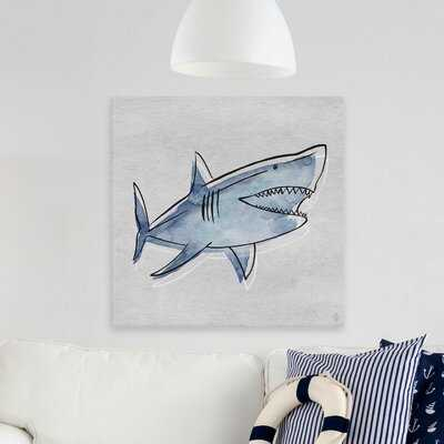 Cheeseman 'Great Shark' Print on Wrapped Canvas Art - Wayfair