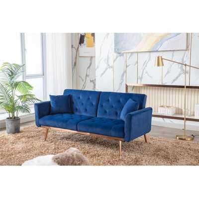 Meliha Velvet 68.9'' Wide Flared Arm Convertible Sofa - Wayfair