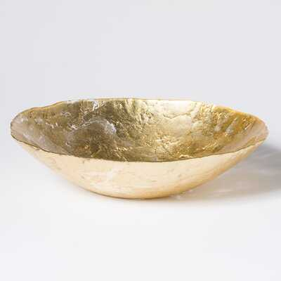 Moon Glass Glam Decorative Bowl in Gold - Birch Lane