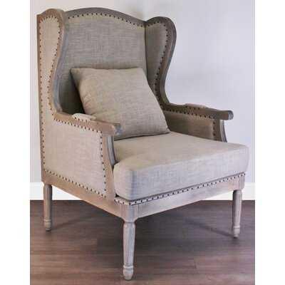 "Mckinley 46"" Wingback Chair - Wayfair"