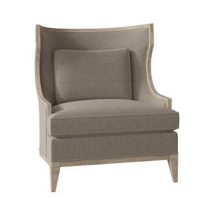 Fairfield Chair Baird Wingback Chair Body Fabric: 3152 Linen, Leg Color: French Oak - Perigold