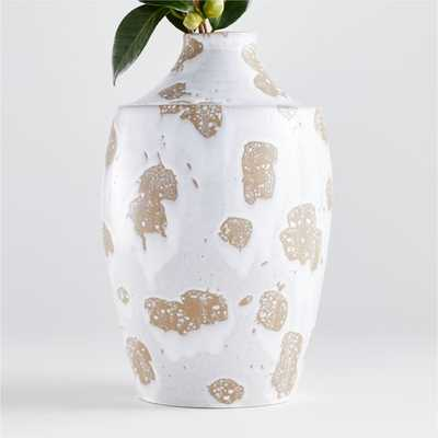 Edmer Spotted Large White Vase - Crate and Barrel