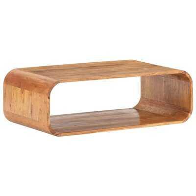 "Millwood Pines Coffee Table 35.4""X19.7""X11.8"" Solid Acacia Wood - Wayfair"