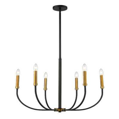 Filament Design 6-Light Matte Black and Olde Brass Chandelier - Home Depot