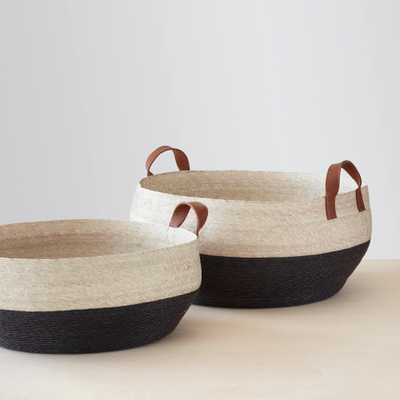 Mercado Floor Baskets - Black - Large By The Citizenry - The Citizenry