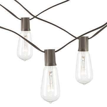 Edison Brown String Lights, Set of 2, Edison Bulb - West Elm