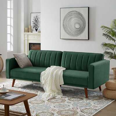 Stafford Velvet 85'' Square Arm Sofa Bed - Wayfair