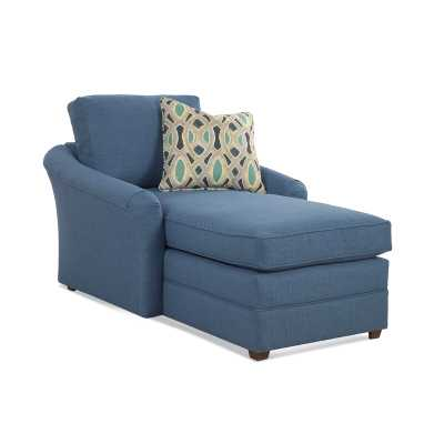 Braxton Culler Full Chaise Lounge Upholstery: Blue Stripe - Perigold