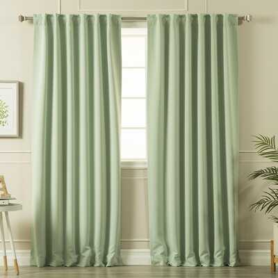 Billups Solid Blackout Thermal Rod Pocket Double Curtains (set of 2) - Birch Lane