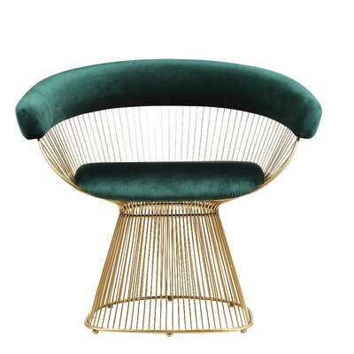 Melva Velvet Upholstered Dining Chair - AllModern
