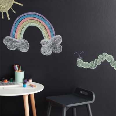 Tempaper Chalkboard Black Peel & Stick Wallpaper - Crate and Barrel